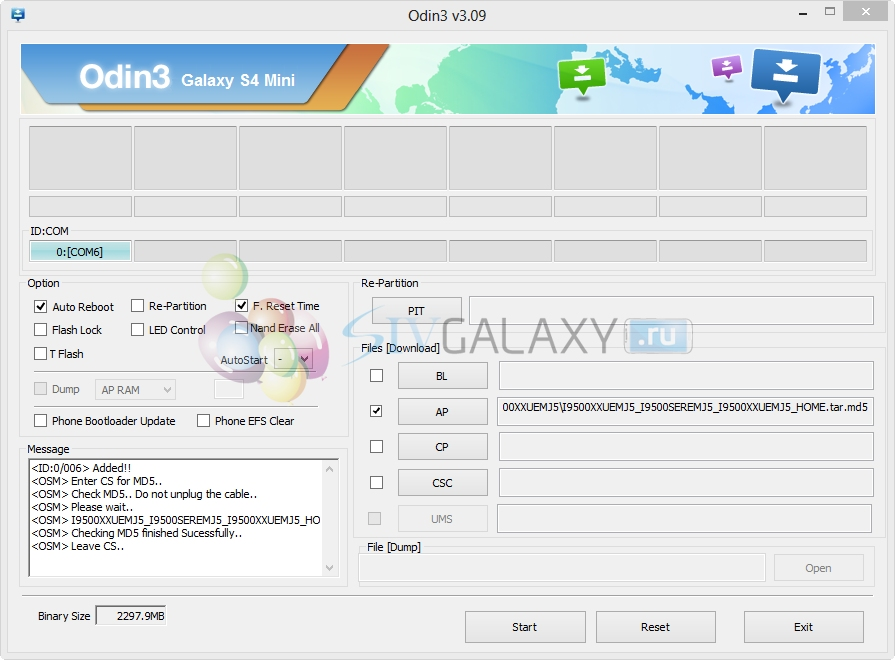 Установка Android 4.3 на Galaxy S4 через Odin