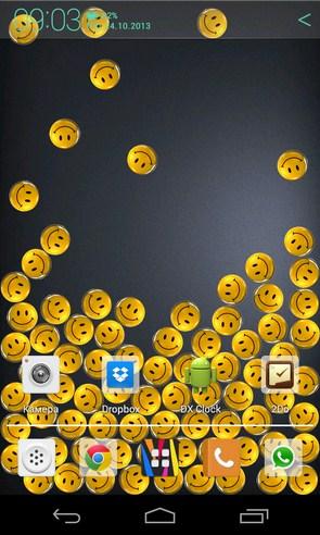 Funny Gravity - интерактивные обои на Samsung Galaxy S4