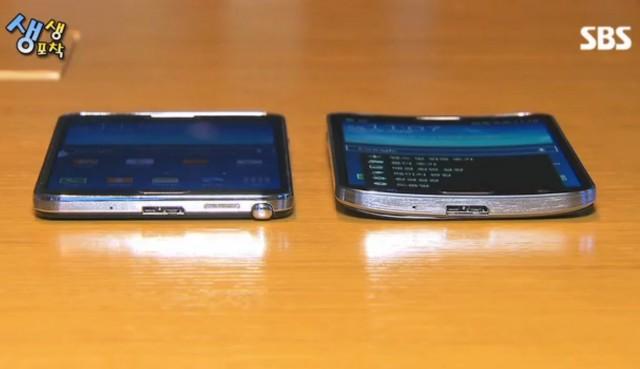Сравнение Galaxy Round и Galaxy Note 3 на видео