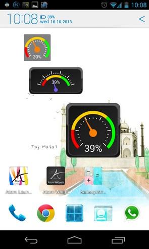 Gauge Battery Widget - приложение на Android