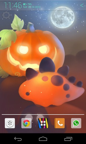 Halloween Dino - живые обои на Samsung Galaxy S4