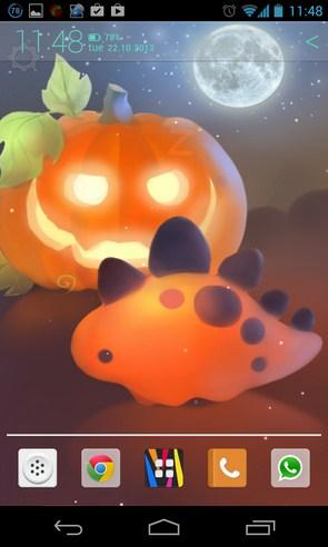 Halloween Dino - интерактивные обои на Samsung Galaxy S4