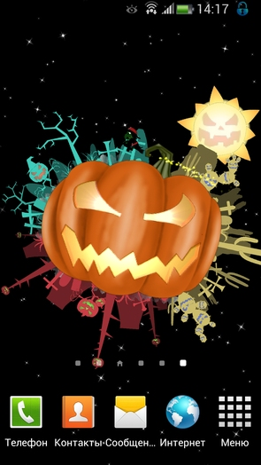 Живые обои Halloween Live Wallpaper Bwch для Galaxy S4 и Note 3