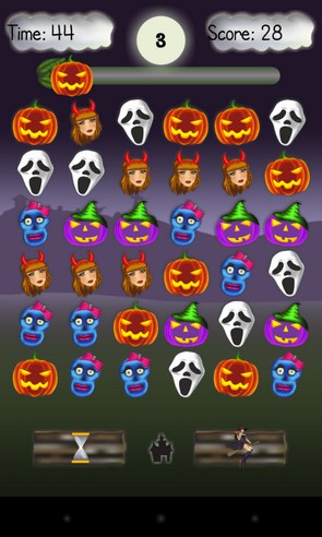 Haunted Halloween Party - головоломка на смартфоны Android