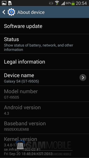 Android 4.3 прошивка для Galaxy S4 GT-I9505