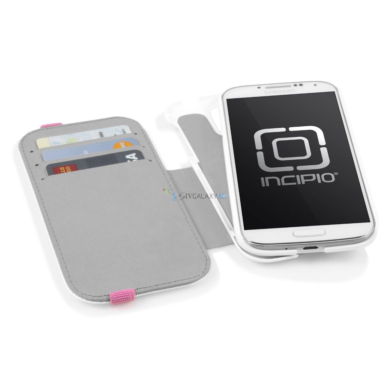 Чехол Incipio Watson Wallet для Samsung Galaxy S4 - белый