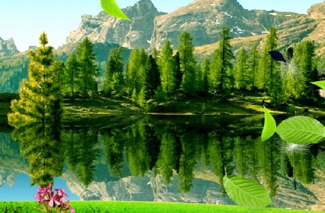 Landscape Live Wallpaper - интерактинвные обои на Samsung Galaxy S4