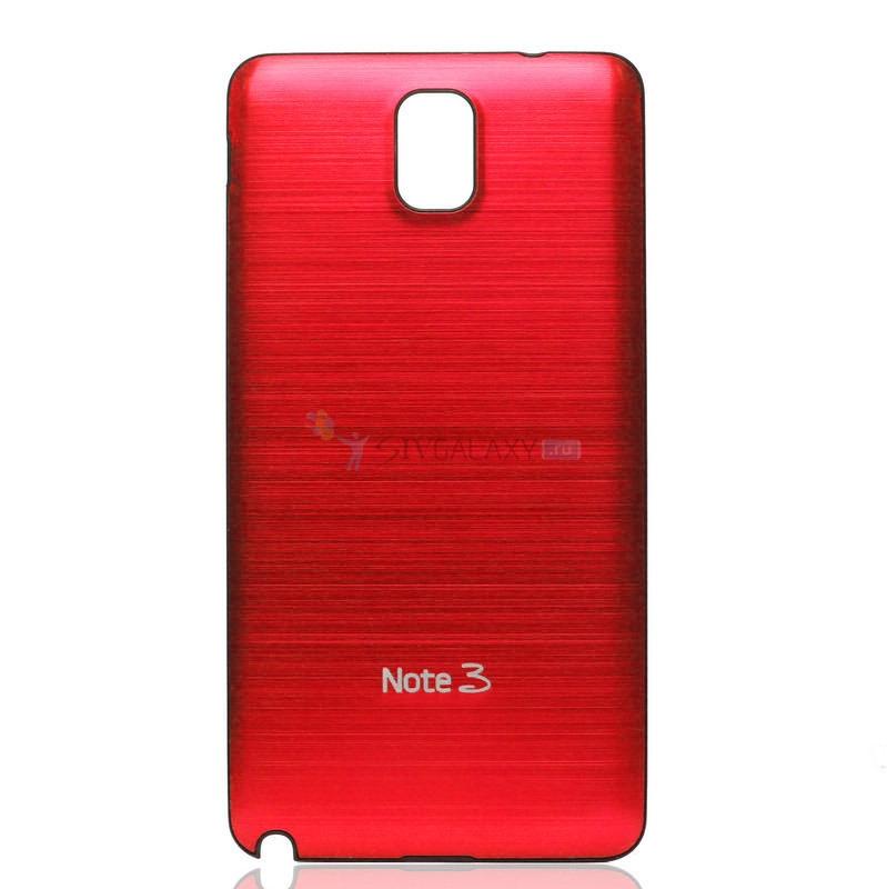 Панель из алюминия на Samsung Galaxy Note 3 - красная