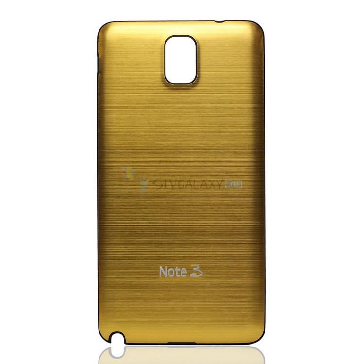 Панели из алюминия на Samsung Galaxy Note 3 золотистого цвета