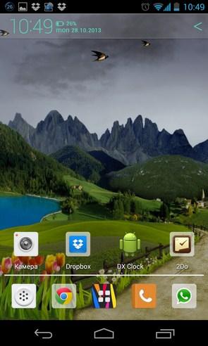 Mountain Weather LWP - интерактивные обои на Samsun Galaxy S4