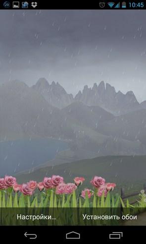 Mountain Weather LWP - живые обои на Samsung Galaxy S4