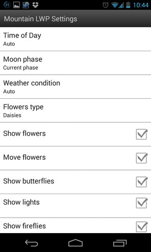 Mountain Weather LWP - анимированные обои на смартфоны Android