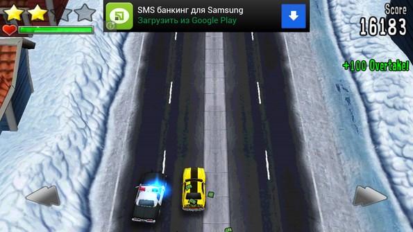 Reckless Getaway – грабим банки, бежим от копов для Galaxy S4