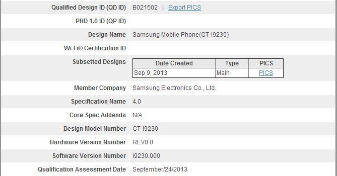 Спецификации Samsung GT-I9230 - Galaxy Golden и Galaxy Folder