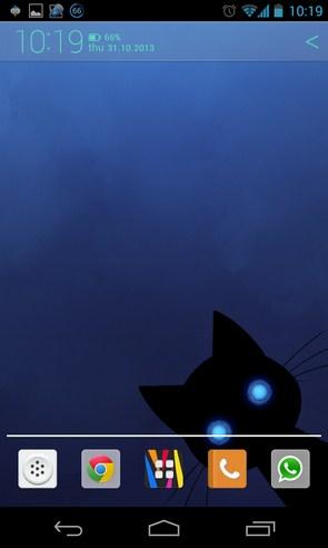 Stalker Cat Live Wallpaper - анимированные обои на Galaxy SIV