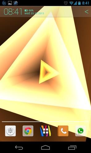 Trianglism Live Wallpaper - анимированные обои на Galaxy S4