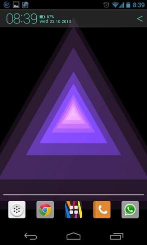 Trianglism Live Wallpaper - живые обои на  смартфоны Galaxy S4