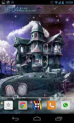 Halloween - живые обои на Samsung Galaxy SIV