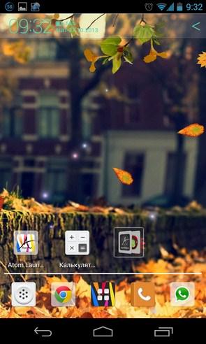 Осенние интерактивные обои на Samsung Galalxy SIV