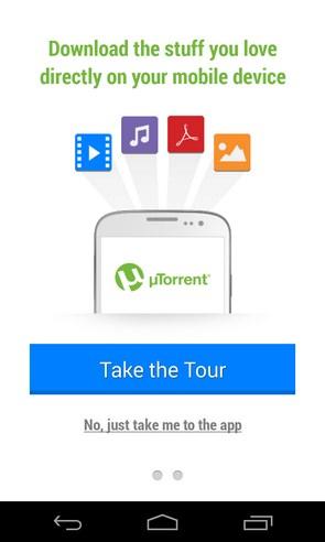 µTorrent - Torrent App - приложение на Samsung Galaxy S4