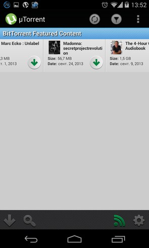 µTorrent - Torrent App - торрент клиент на Samsung Galaxy S4