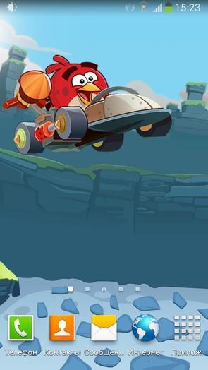 Angry Birds Go v1.0 - живые обои параллакс