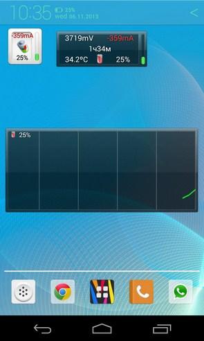 Battery Monitor Widget - виджет заряда батареи на Android