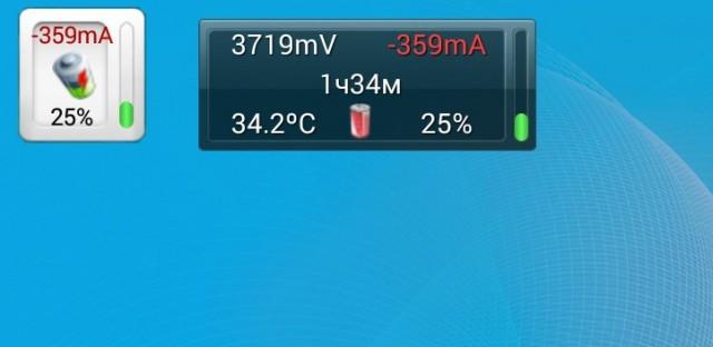 Battery Monitor Widget - виджет батареи на Samsung Galaxy S4