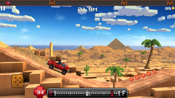 Blocky Roads - 3D гонки в мире Майнкрафт для Galaxy Note 2 и Note 3