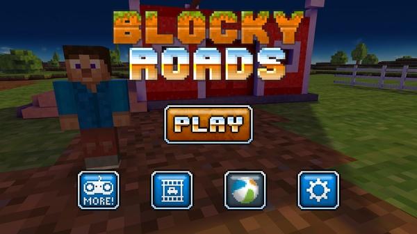 Blocky Roads - 3D гонки в мире Майнкрафт для Galaxy Mega и Note 10.1