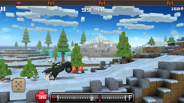 Blocky Roads - 3D гонки в мире Майнкрафт для Samsung Galaxy