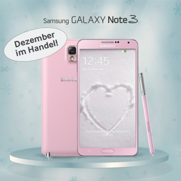 Розовый Samsung Galaxy Note 3