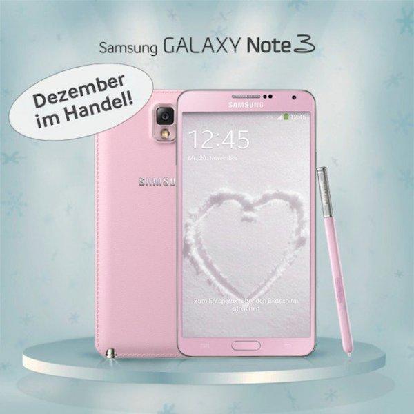 Розовый Samsung Galaxy Note 3
