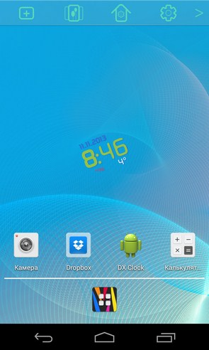 ClockQ - виджет цифровых часов на Galaxy S4