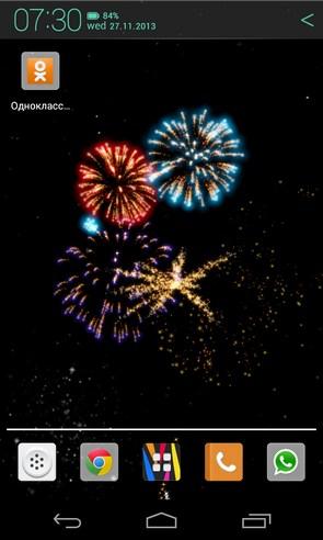Fireworks 4D - анимированные обои на Android