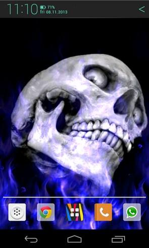 Flames and Skull - интераrтивные обои на Samsung Galaxy S4