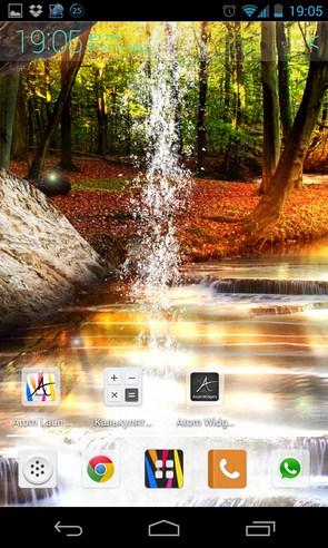 Lesnoj Vodopad Zhivye Oboi - живые обои на Samsung Galaxy S4