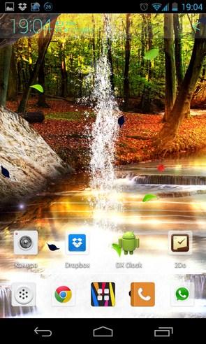 Lesnoj Vodopad Zhivye Oboi - интерактивные обои на Galaxy S4