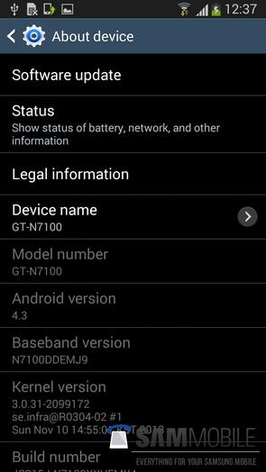 Прошивка Андроид для Samsung Galaxy Note 2
