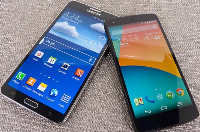 Видео: Google Nexus 5 vs Samsung Galaxy Note 3