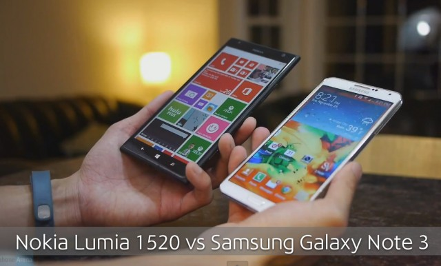 Сравнение: Nokia Lumia 1520 vs Samsung Galaxy Note 3