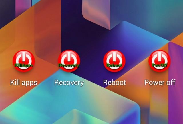 Rebooter (fast reboot) - виджет перезагрузки на Galaxy S4 и Note 3