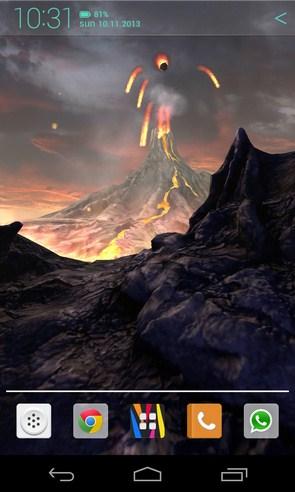 Volcano 3D Live Wallpaper - анимированные обои на Galaxy S4