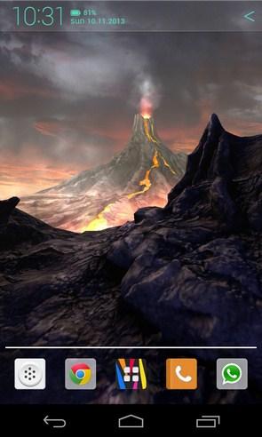 Volcano 3D Live Wallpaper - живые обои на Галакси с4
