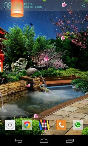Восточный сад - интерактивные обои на Galaxy S4