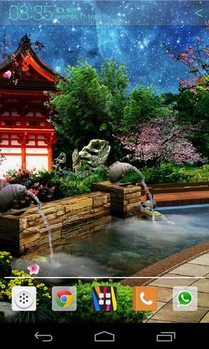 Восточный сад - интерактивные обои на Samsung Galaxy S4