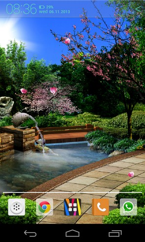 Восточный сад - живые обои на Samsung Galaxy S4