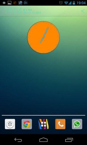 Wow KitKat Clock Widgets - виджет часов на Samsung Galaxy S4