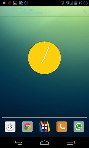 Wow KitKat Clock Widgets - виджет часов на Samsung Galaxy S4