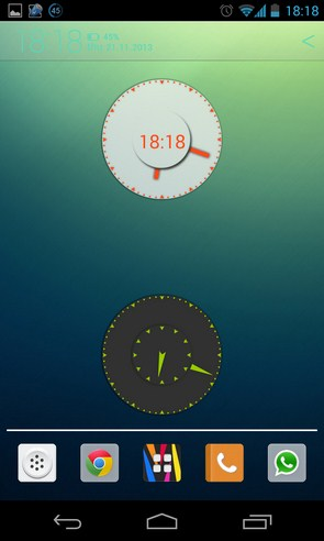 Wow KitKat Clock Widgets - виджет часов на Galaxy S4
